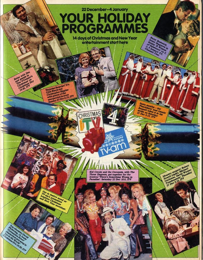 1984 Itv Channel 4 Highlights Vintage Radiotv Times